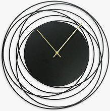 Lascelles Metal Wire Analogue Wall Clock, 50cm,