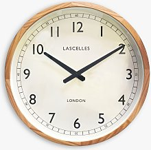 Lascelles Oak Wood Analogue Wall Clock, 41cm,