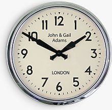 Lascelles Personalised Smiths Analogue Wall Clock,