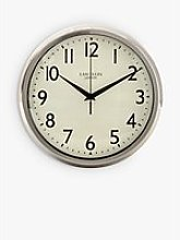 Lascelles Retro Silent Sweep Wall Clock, 30cm,