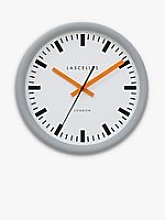 Lascelles Swiss Station Silent Sweep Wall Clock,