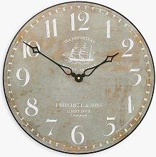 Lascelles Tea Clipper Ship Wall Clock, Dia.36cm,