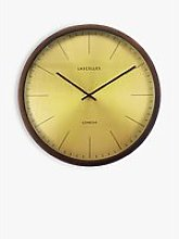 Lascelles Wood Casing Analogue Wall Clock, 41.5cm,