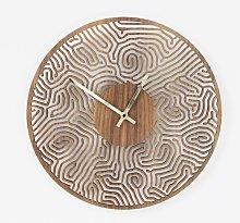 Laser cut fingerprint wall clock