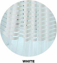 LASISZ Decorative Semi Lace Striped Sheer Curtain
