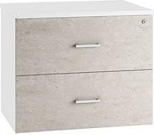 Lasso Side Filing Cabinet (Concrete), Concrete