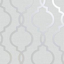 Laticia Geometric Trellis Glitter Modern Wallpaper