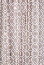 Latte Medallion Textile Shower Curtain - Croydex