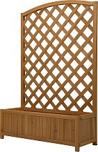 Lattice Wooden Garden Planter - Large.