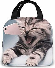 Laughing Cat Lunch Bag Cooler Bag Women Tote Bag