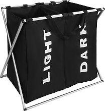 Laundry basket double - black