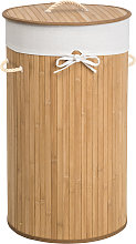 Laundry basket with 57l laundry bag - beige