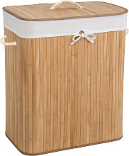 Laundry basket with laundry bag - beige, 100 L