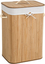 Laundry basket with laundry bag - beige, 72 L