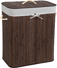 Laundry basket with laundry bag - brown, 100 L