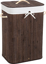 Laundry basket with laundry bag - brown, 72 L