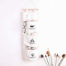 Laundry Baskets Cotton Linen Closet Wall Hanging