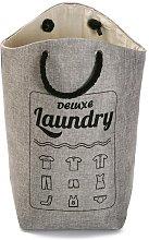 Laundry Bin August Grove Colour: Grey