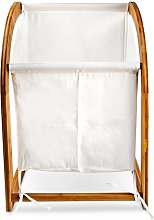 Laundry Bin Bag with Bamboo Frame Round with