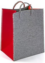 Laundry Bin Mercury Row Colour: Red