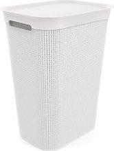 Laundry Bin Rotho Colour: White