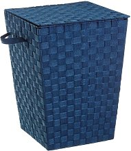 Laundry Bin with Cover August Grove Colour: Blue