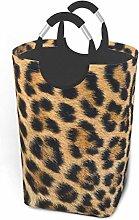 Laundry Hamper Close Up Leopard Skin Storage Bin
