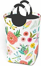 Laundry Hamper Lovely Flowers And Leaves Storage