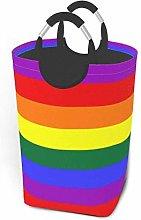 Laundry Hamper Rainbow Stripes Storage Bin Hamper