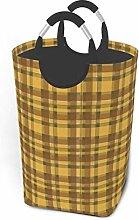 Laundry Hamper Storage Bin Mustard And Olive Plaid