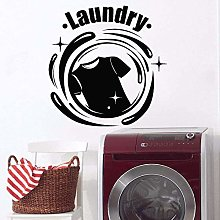 Laundry Logo Decal Wall Clothes Decoration Pattern