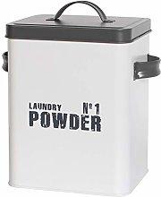 Laundry Powder Canister Stylish Enamel Coated