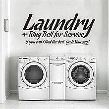 Laundry Room Vinyl Wall Sticker Doorbell Removable