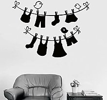Laundry Room Wall Decal Wash Clothes Vinyl Wall