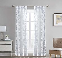 Laura Ashley Clover Lace Sheer Window Curtains,