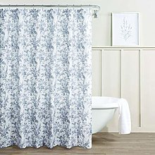 Laura Ashley Shower Curtain-100, Machine Washable