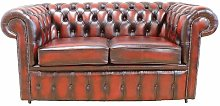 Laursen Genuine Leather 2 Seater Chesterfield Sofa
