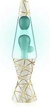 Lava 14.5in Geometric Lava Lamp - Blue and Clear