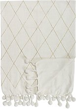 Laval Cotton Throw White