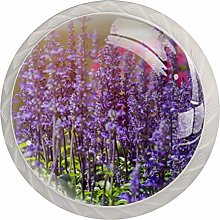Lavender 4 Packs Cabinet Door Knobs with