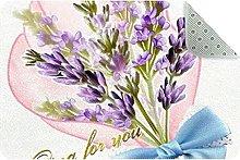 Lavender Door Mat, Machine Washable Soft Doormat