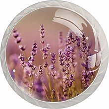 Lavender Drawer Round Knobs Cabinet Pull Handles