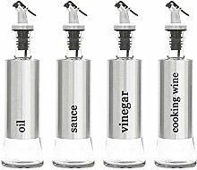 Lawei 4 Pack Oil and Vinegar Dispenser Bottles Set