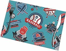 Lawenp Baseball Logo Badge Placemats for Dining