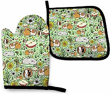 Lawenp Guinea Pig Cotton Kitchen Oven Mitt Gloves