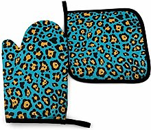Lawenp Leopard Brown Cotton Kitchen Oven Mitt