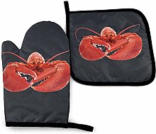 Lawenp Lobster Cotton Kitchen Oven Mitt Gloves and