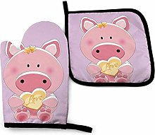 Lawenp Lovely Pig Cotton Kitchen Oven Mitt Gloves