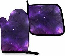 Lawenp Magic Galaxy Sky Purple Cotton Kitchen Oven
