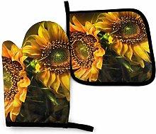 Lawenp Orange Sunflower Wallpaper Cotton Kitchen